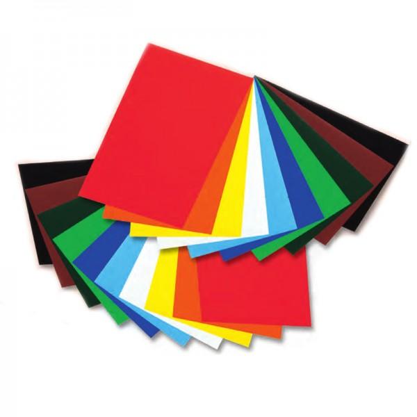 Folia Buntpapier -50 Blatt, farbig sortiert