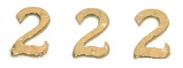 Wachszahlen, 8 mm, 3 Stück, gold, 2