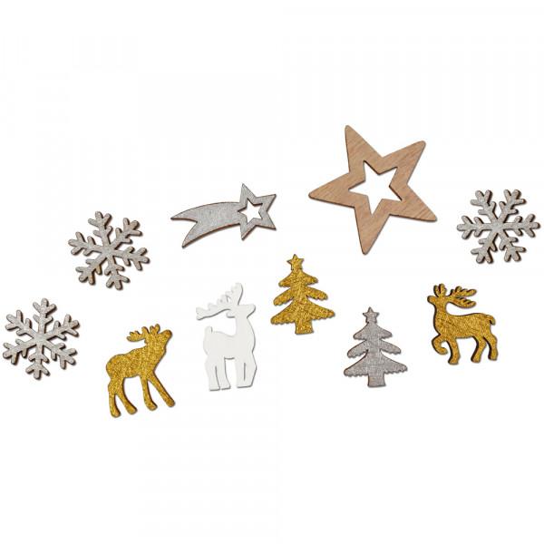 """Holz-Streuteile Sortiment """"Weihnachten"""""""