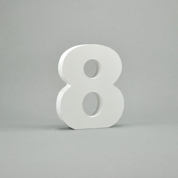 """MDF- Zahlen """"8"""", weiß"""