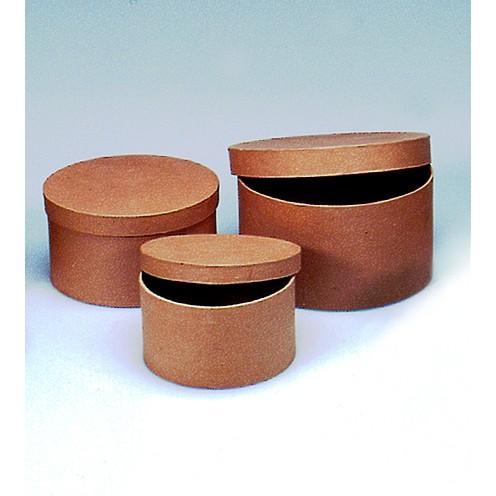 Boxen-Set Rund, aus Pappmaché, 3-teilig