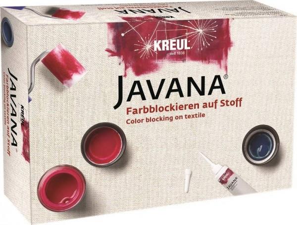 JAVANA Set - Farbblockieren auf Stoff, Stoffmalfarben-Set