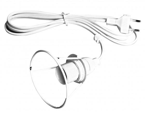 Elektrofassung mit Lampenring E14, 2 m Zuleitung