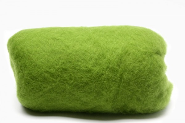 Merino-Filzwolle, im Vlies, 50 g, Moosgrün