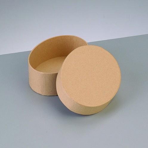 Box Oval, aus Pappmaché, 10,5 x 7,5 x 3,6 cm