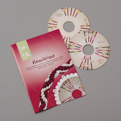 Kumihimo Mobidai® Schablonen, Ø 121 mm, 2 Stück