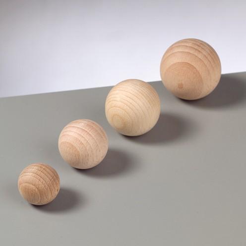 Holzkugel, roh, ungebohrt, 10 Stück, Ø 10 mm
