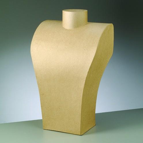 Büste, aus Pappmaché, 39 x 24 cm