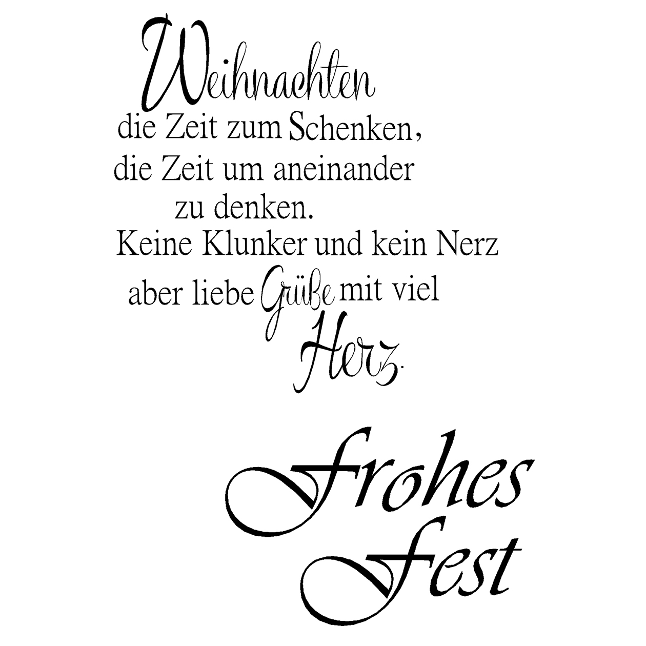 clear stamps frohes fest kreativ depot. Black Bedroom Furniture Sets. Home Design Ideas