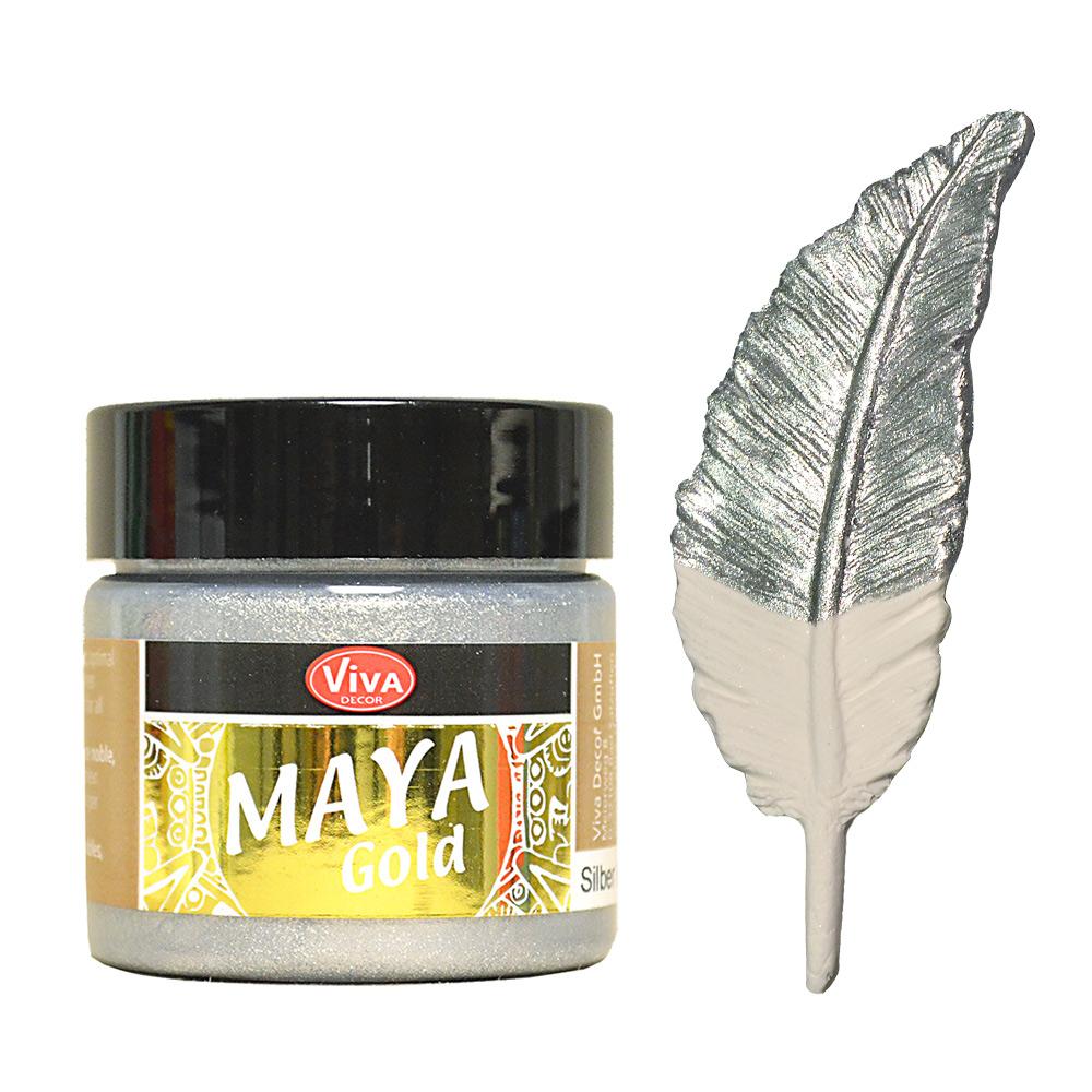 viva decor maya gold 45 ml silber kreativ depot. Black Bedroom Furniture Sets. Home Design Ideas