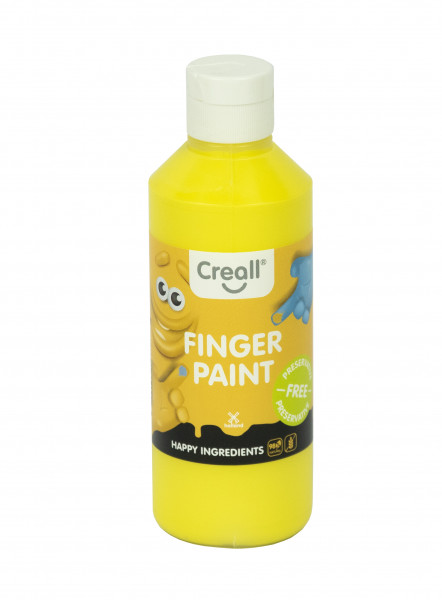Creall-Fingermalfarbe HAPPY INGREDIENTS, 250 ml, gelb