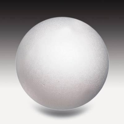 Styroporkugel, 6 cm Ø weiß, einteilig massiv