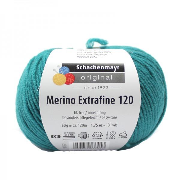 Die Schachenmayr Wolle - Merino Extrafine, smaragd