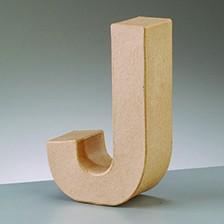 Buchstabe J, 5x2 cm, aus Pappmaché