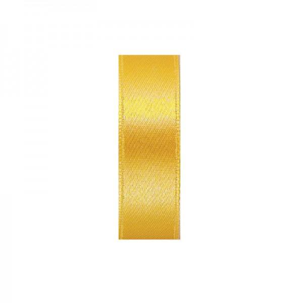 Satinband, doppelseitig, Länge 5 m, Breite 25 mm, gold