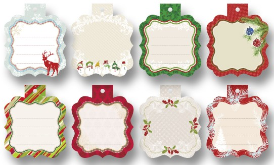 Geschenkanhänger Mini Cutties, 8 Stück, Winter