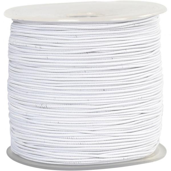 Gummiband - elastische Schnur, 1 mm, 250 m, weiß