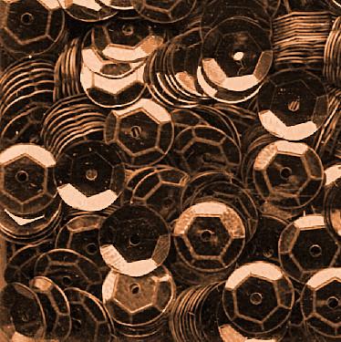 Pailletten, rund, gewölbt, 6 mm, 1400 St, braun-metallic