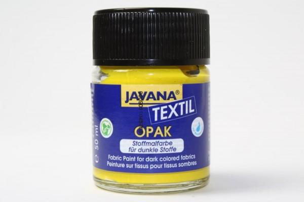 JAVANA TEXTIL Opak, für dunkle Stoffe, 50 ml, Gelb