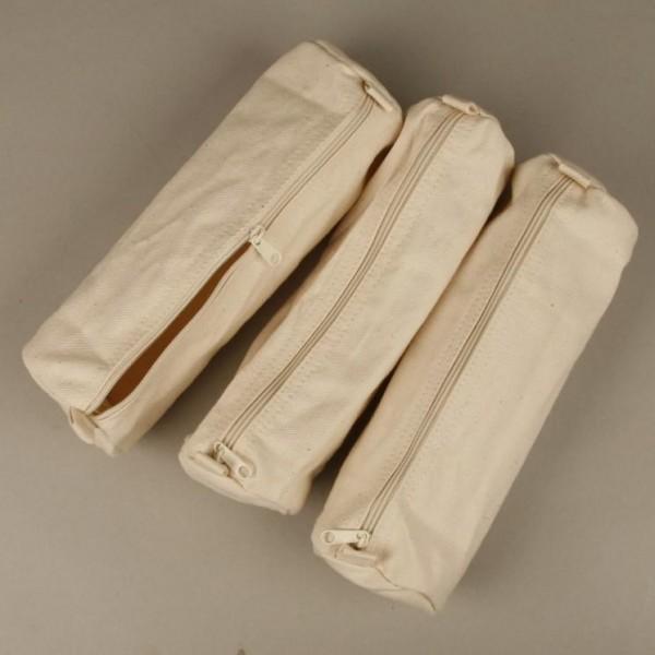 Federtasche, Baumwolle, Länge 22 cm, Ø ca. 8 cm, natur