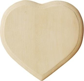 Holz-Blanko-Türschild Herz, 13,5x13,5cm