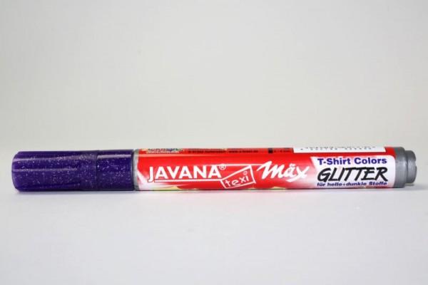 JAVANA texi mäx GLITTER, Stoffmalstift, Violett