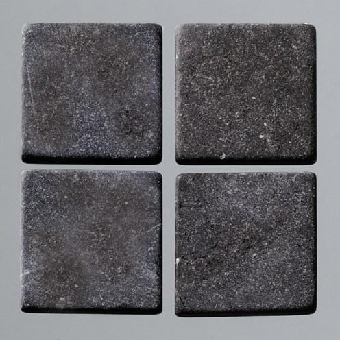 Efco Mosaik Echtstein pur, 10 x 10 mm, schwarz