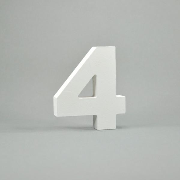 """MDF- Zahlen """"4"""", weiß"""