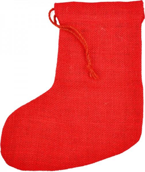 Jute-Socken, 12x24 cm, rot
