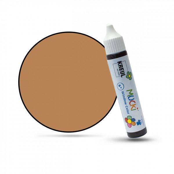 Mucki Window Color Pen, Fenstermalfarbe, 29 ml, hellbraun
