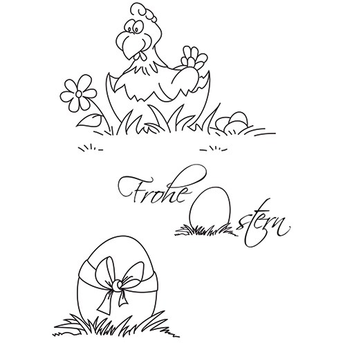 Clear Stamps - Frohe Ostern