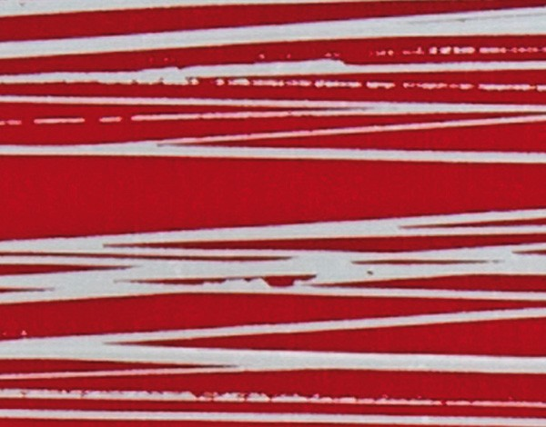 Verzierwachsplatte, silber gestreift, 200x100x0,5mm, rot