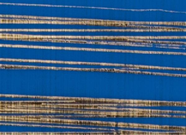 Verzierwachsplatte, gold gestreift, 200x100x0,5mm, blau