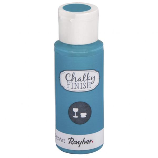 Chalky-Finish Kreidefarbe für Glas 59 ml - lagune
