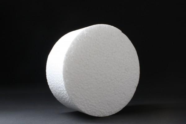 Styropor-Scheibe, Ø 15 cm, Stärke 7 cm