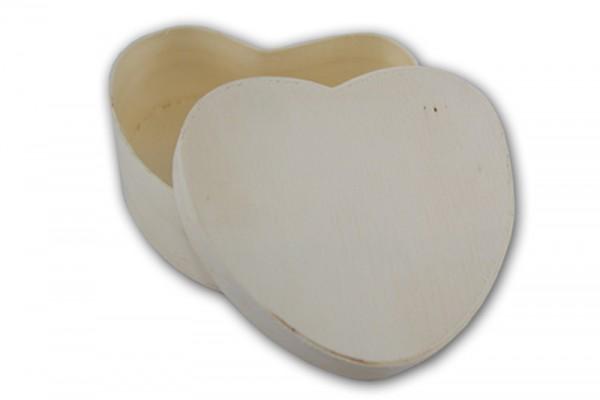 Spanschachtel, Herz, 15 x 15 x Höhe 6 cm