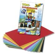 Tonpapierblock, DIN A3, 10 Blatt, 10-farbig