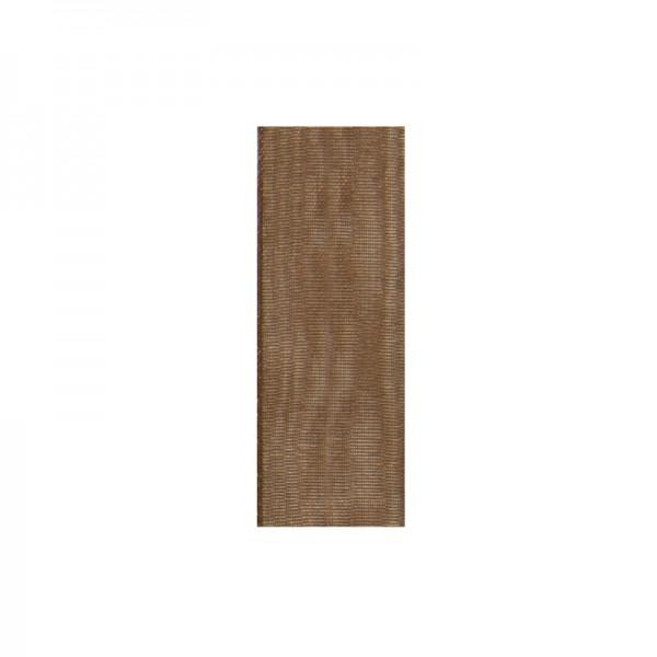 Chiffonband, 10mm breit, 10m lang - braun