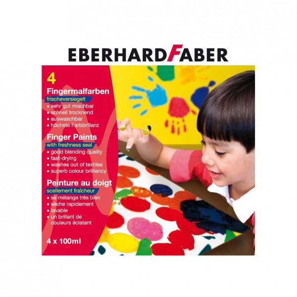 EBERHARD FABER Fingermalfarbe, 4 Farben