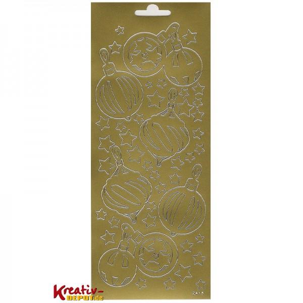 Sticker X-Mas Kugeln, gold