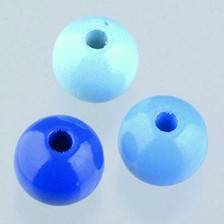 Holzperlen Mix 12mm - blaumix