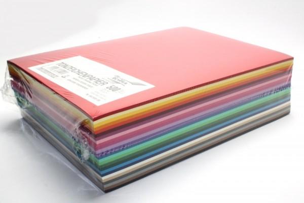Fotokarton,250er Pack, 300 g/m², DIN A4, 25 Farben sortiert