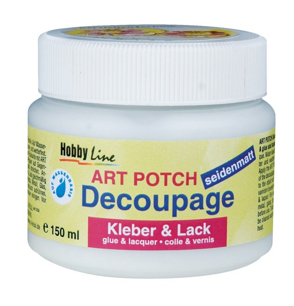 Art Potch Decoupage Kleber & Lack, seidenmatt, 150ml