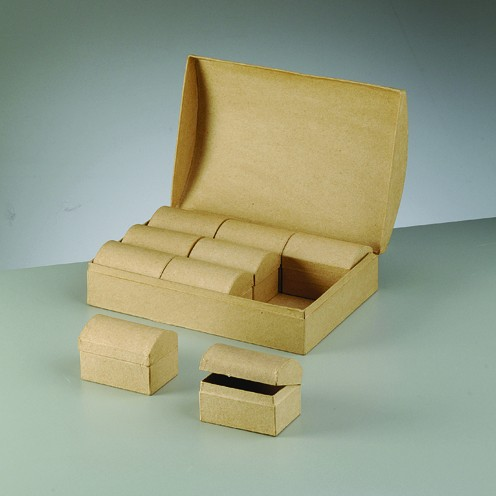 Boxen-Set Schatztruhe, 25,5 x 17,5 x 8 cm, 10-teilig