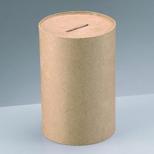 Spardose Sammelbüchse, aus Pappmachè, 10 x 15 cm