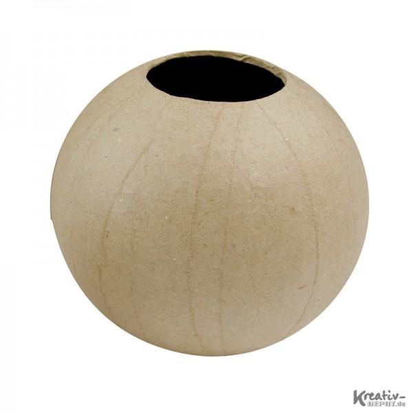 Vase, m. Innenbeschichtung, aus Pappmachè, Ø 11 x 10,5 cm