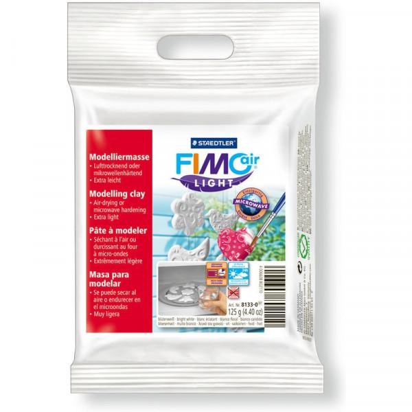 FIMO air LIGHT Modelliermasse, lufthärtend, weiß, 125 g