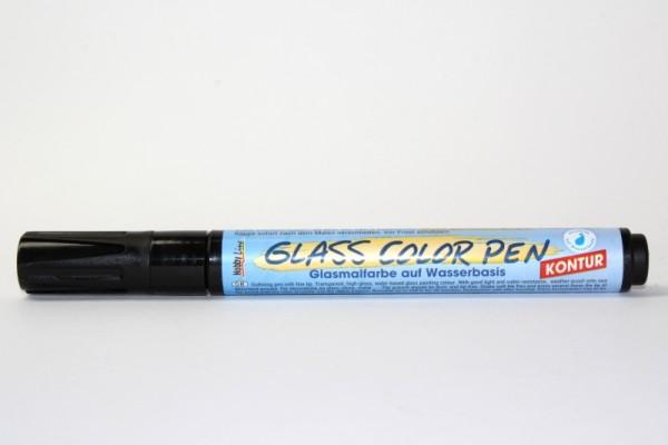 Hobby Line GLASS COLOR Pen, Kontur-Schwarz