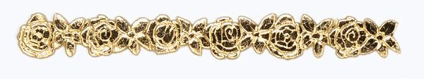 Wachsborte , 24 cm, Rosen, gold