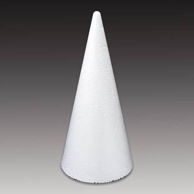 Styropor-Kegel, weiß, 6,5 cm